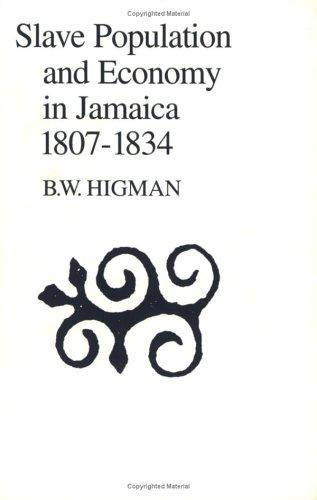 Slave Population and Economy in Jamaica, 1807-1834