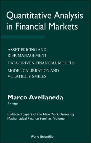 Quantitative Analysis in Financial Markets