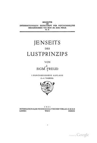 Download Jenseits des Lustprinzips