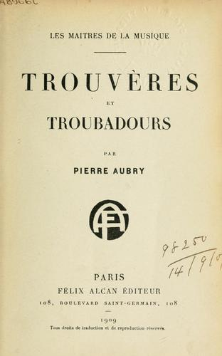 Download Trouvères et troubadours