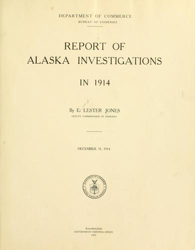 Download Report of Alaska investigations in 1914