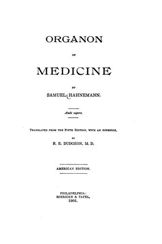 Download Organon of medicine