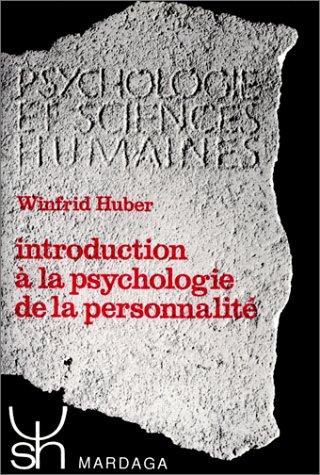 Introduction à la psychologie de la personnalité