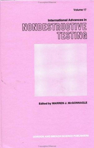 Download International Advances in Nondestructive Testing