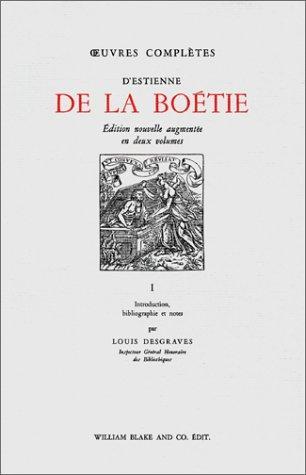 Œuvres complètes d'Estienne de La Boétie