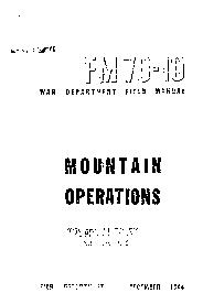Mountain operations by United States. Dept. of the Army.