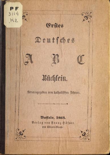Erstes deutsches A B C büchlein by