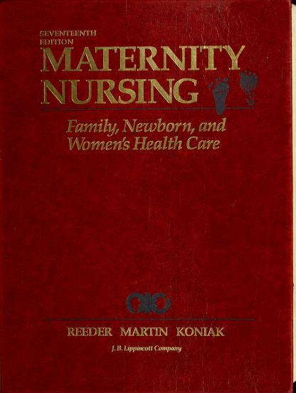 Maternity nursing by Sharon J. Reeder