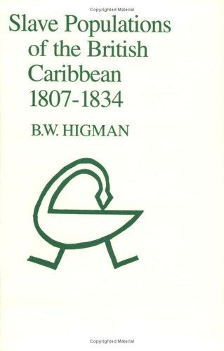 Slave populations of the British Caribbean, 1807-1834