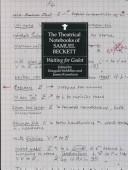 The Theatrical Notebooks of Samuel Beckett