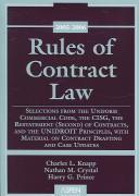 Rules Of Contract Law by Knapp