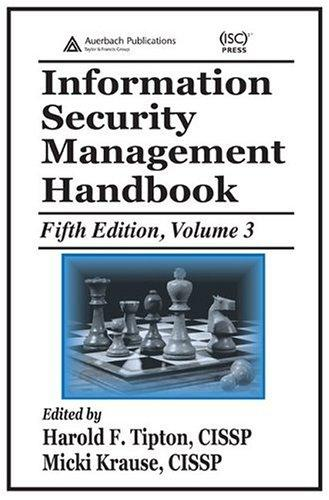 Information security management handbook by